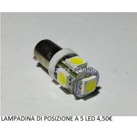 LAMPADINE DI POSIZIONE A 5 LED