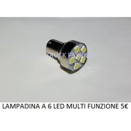 LAMPADINE A 6 LED MULTI FUNZIONE