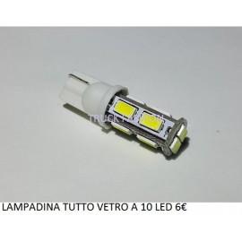 LAMPADINE TUTTO VETRO A 10 LED