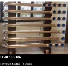 TERMINALE SCARICO - 5 USCITE