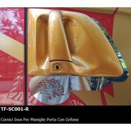 CORNICI INOX PER MANIGLIE PORTA CON GRIFONE