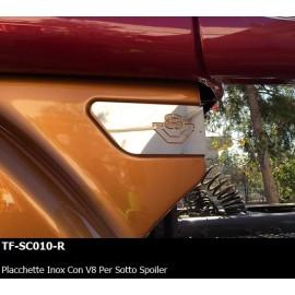 PLACCCHETTE INOX CON V8 PER SOTTO SPOILER