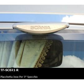 PLACCHETTA INOX PER 5° SPECCHIO