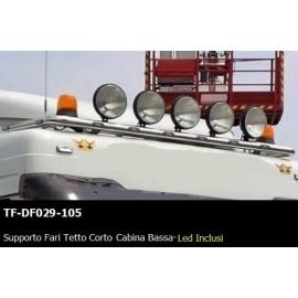 SUPPORTO FARI TETTO CORTO  CABINA BASSA - LED INCLUSI