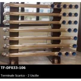 TERMINALE SCARICO - 2 USCITE