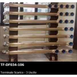 TERMINALE SCARICO - 3 USCITE