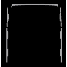 PLACCHETTE INOX LATERALI SPOILER 5 PZ STRALIS 480
