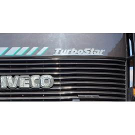 """SCRITTA INOX UNITA """"Turbostar"""" PER MASCHERINO IVECO TURBOSTAR"""