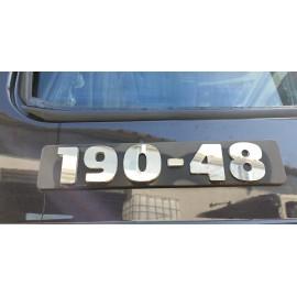 SCRITTA INOX 190-48 IVECO TURBOSTAR