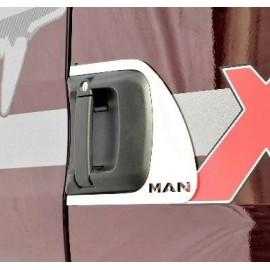 """KIT CORNICE INOX PER CONTORNO MANIGLIA CON SCRITTA """"MAN"""" MAN TGX E6"""